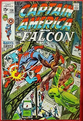CAPTAIN AMERICA 138 Marvel Bronze Age 1971 Spiderman appearance