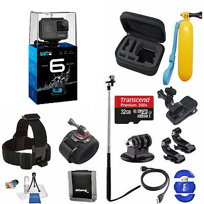 GoPro HERO 6 Black Sports Action Camera + 32GB Deluxe Starter Bundle *BRAND NEW*
