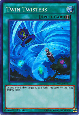 Yugioh Twin Twisters MP16-EN221 1st Super Rare Lightly Played Fast Shipping!