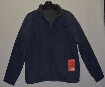 North Face Men's All Season Jacket Quilted Urban Navy Insulated Full Zip M New