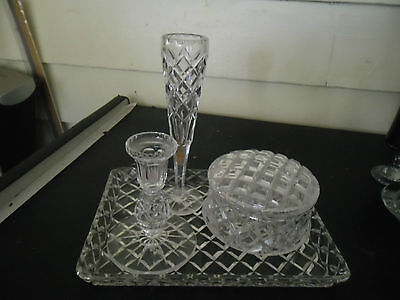 Large Crystal Dressing Table Set