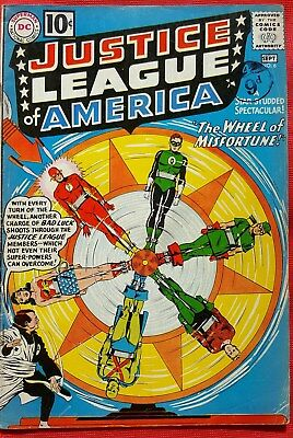 Justice League of America 6 DC Silver Age 1961 Origin 1st app Prof Amos Fortune