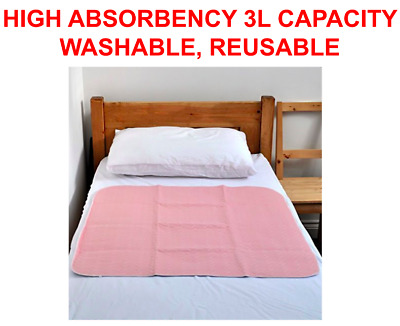Reusable Incontinence Bed Pad Washable Wetting Protective Absorbent Dry Mat NEW