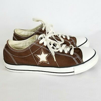 Converse One Star Dark Brown Canvas Sneakers Casual Shoes Wo's Sz 9, Mens 7 A6
