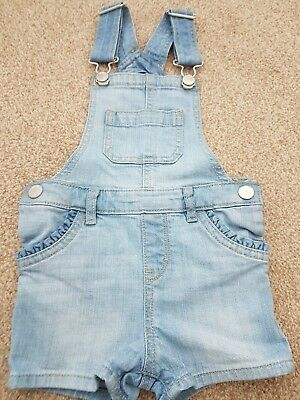 Girls GAP Denim short dungarees