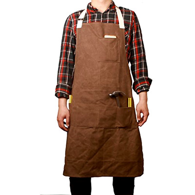 Heavy Duty Workshop Apron Utility Tool Aprons Multifunction Waterproof Men/Women