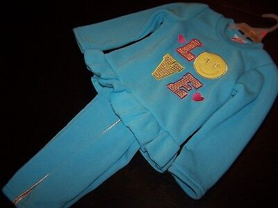 Size 3T~Girl~Winter Outfit~Blue (LOVE)~2B Real/$ General~NWT!