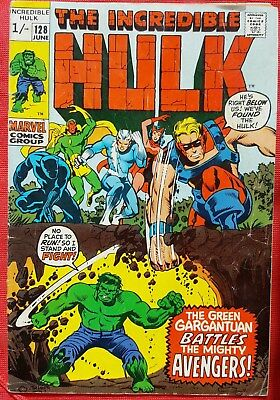 Incredible Hulk 128 Marvel 1970 Hulk Vs The Avengers