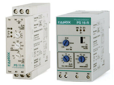 Fanox Single-Phase Pump Protection Relay WITHOUT LEVEL SENSOR, by Undercurrent