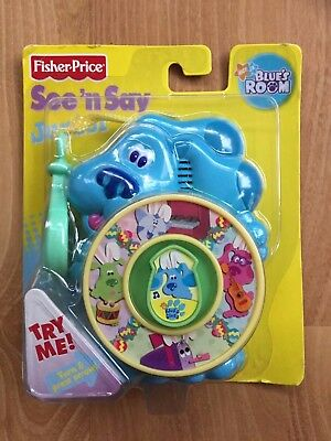 NIB See n Say Junior Mini Blue Clip On by Blue's Clues Fisher-Price 2006 new
