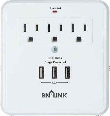 Century Wall Mount Surge Protector with Triple USB Charging Ports, 3 Outlets