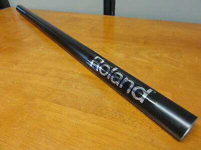 """Roland V-Drums 31.5"""" Straight Smooth Black Aluminium Rack Tube Post With End Cap"""