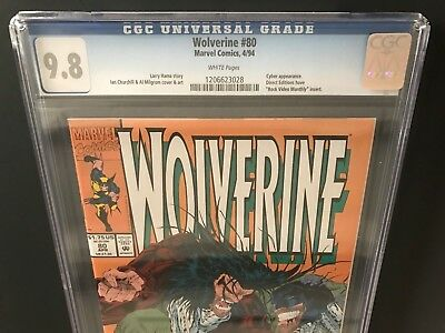 1994 Marvel WOLVERINE # 80 CGC 9.8 NM/MT White Pages,  X-23 Test Tube Panel!