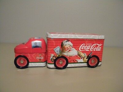 Coca Cola Delivery Truck W/ Santa Collector's Tin