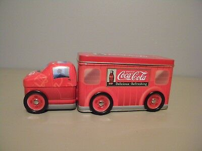 Coca Cola Delivery Truck Collector's Tin W Two Compartments