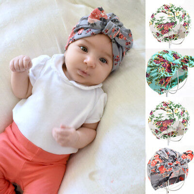 US Stock Newborn Baby Toddler Kids Girl Bowknot LOVELY Soft Cotton Beanie Hat #