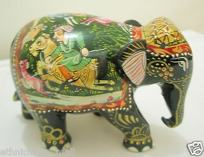 Collectible Wood Elephant LUCKY Statue Feng Shui Decor Wealth Figurine Good Luck