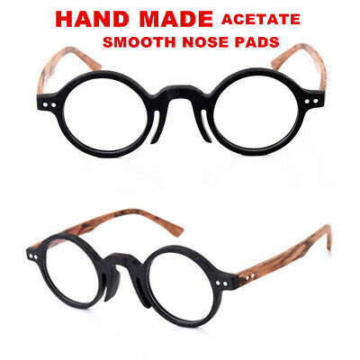 61a048687f98 Retro Round Clear Transparent Eyeglass Frames No Lens Glasses Eyewear  Spectacles