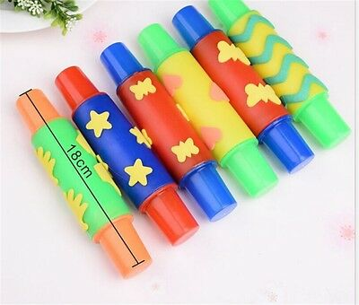 Rolling Plasticine Clay Mold Tool DIY Flowers Decoration Roller Brush Kids Toy O