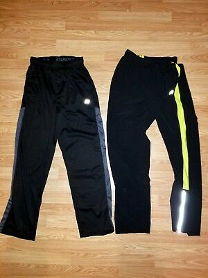 Lot of 2 Russell Athletic men's workout pants small black yellow