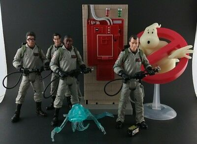"Mattel Ghostbusters Classic 6"" Figure Lot Ray Egon Winston Peter w/ Containment"