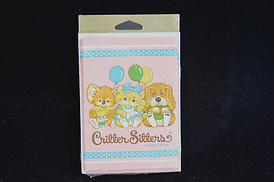 Vintage Critter Sitters 1983 Party Invitations New 8 Cards Envelopes C A Reed
