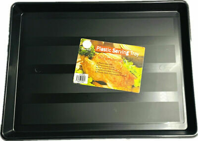 Serving Food Drinks Plastic Rectangle Tray and 5 section snack serving tray