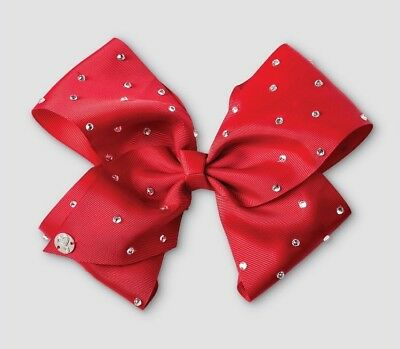 JoJo Siwa Signature Large Hair Bow Red with Rhinestones ❤️ Valentines Day