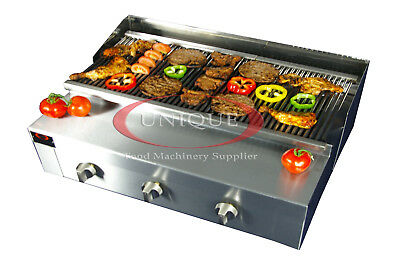3 Burner Gas Charcoal Bbq Grill / Char-Grill Heavy Duty For Commercial Use
