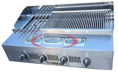 4 Burner Gas Charcoal Bbq Grill / Char-Grill Heavy Duty For Commercial Use 340