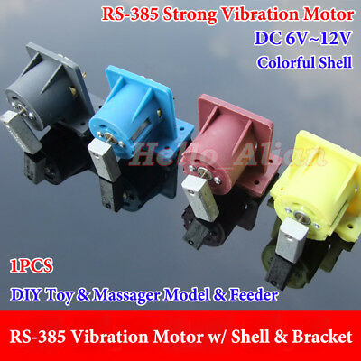 DC 6V-12V 385 Strong Vibration Vibrating Motor + Shell For Massager/Toy/Feeder