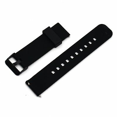 Soft Silicone Replacement Strap Band For Asus Zenwatch 2 Smart Watch BLACK