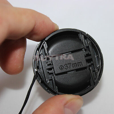 NEW DESIGN 37mm Center Pinch Snap on Front Cap Cover For Sony Lens Filter FR