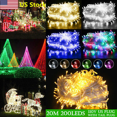 US Christmas Party Led String 20M 200 Lights Outdoor Lights Wedding Waterproof