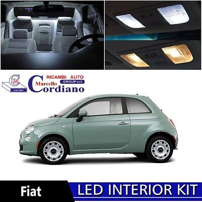 Kit Full Led Interni Completo Fiat 500 + Luci Targa Led