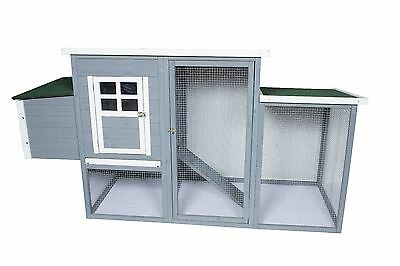 Deluxe Large Wood Chicken Coop & run rabbit hutch hen house poultry