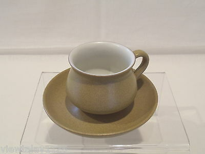 Denby Ode Cup And Saucer  Antique Gold Colour Glyn Colledge Design 1960's