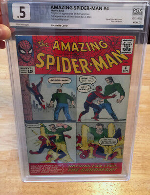 Amazing Spider-Man #4 & #10~Extraordinary!! Pgx Graded~Cream To O/w Pages!