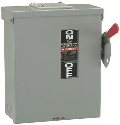 GE 100 Amp 240-Volt Fusible Outdoor Power Electrical Handle Safety Switch Box
