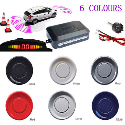 4 Sendors Car Reverse Parking Sensor Rear LCD Display Audio Alarm Kits 6 Colors