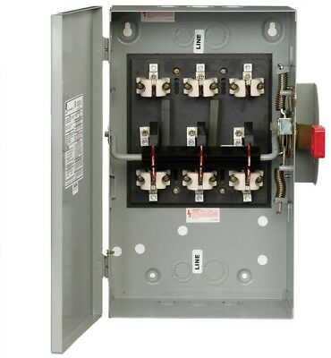 60 Amp 240-Volt Non-Fused Indoor Double-Throw Power Electrical Safety Switch Box