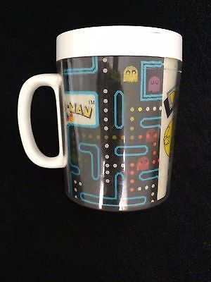 Vintage 1980 Bally/Midway 3D Pac Man Mug Cup by Thermo Serv LENTICULAR MOVING