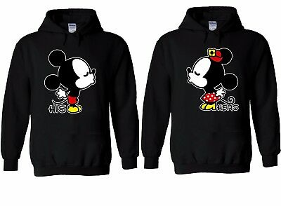 Disney Kissing Mickey Minnie Mouse Couple Hoodie Sweatshirt Men Women Unisex