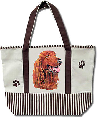 Tote Bag - Irish Setter - Heavy Duty Canvas - Shopping Grocery Dog Mother's Day