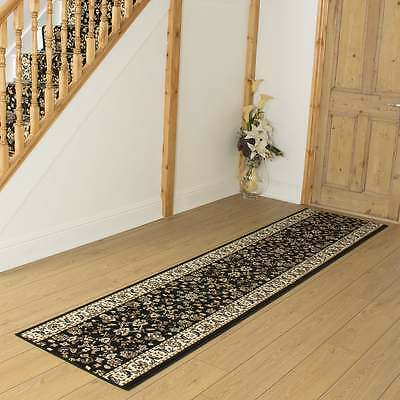 Persian Black - Hallway Carpet Runner Rug Mat For Hall Extra Very Long Cheap New