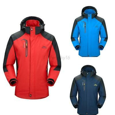 AU Men's S-2XL Sports Waterproof Hiking Camping Jacket Outdoor Rain Coat Hoodie