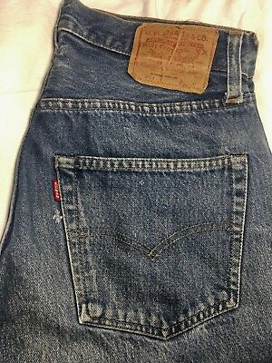 Late 70's 80's Vtg Levi's Redline Denim 501 W 32 L 32 Indigo Blue Jean Not Big E