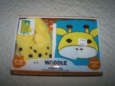 """Boy/Girl """"WADDLE"""" Snuggle Pack~0-12 Mos~Tights (Footless) & Slippers~NWT!"""