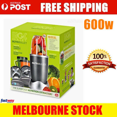 NutriBullet 12Pcs Juicer Mixer Extractor Fruit Vegetable Blender 600W Grey New