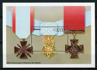 Ghana 1995 MNH WWII VJ Day 50th Peace in Pacific 1v SS Word War II Medals Stamps